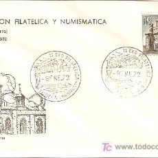 Sellos: MATASELLO ESPECIAL II EXPOSICION FILATELICA Y NUMISMATICA TUDELA 3 A 9 ENERO 1972. Lote 8131597