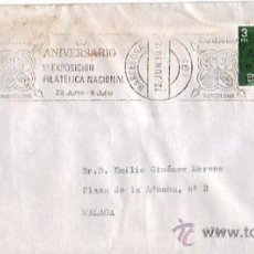 Sellos: 50 ANIVERSARIO PRIMERA EXPOSICION FILATELICA NACIONAL, BARCELONA 1980. MATASELLOS RODILLO CARTA GMPM. Lote 8259214