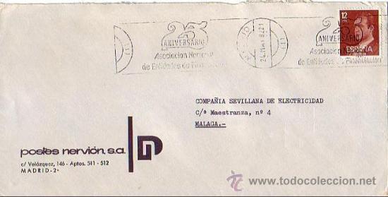 ASOCIACION NACIONAL ENTIDADES DE FINANCIACION 25 ANIV, MADRID 1982. MATASELLOS RODILLO EN CARTA GMPM (Sellos - Historia Postal - Sello Español - Sobres Primer Día y Matasellos Especiales)