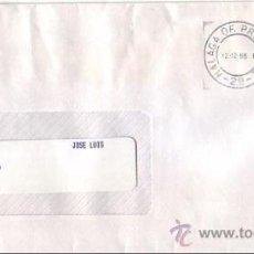 Sellos: VINO UN MALAGA POR SU CATEDRAL, MALAGA 1996. MATASELLOS DE RODILLO EN CARTA CIRCULADA. GMPM.. Lote 8284844