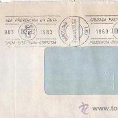 Sellos: CRUZADA PREVENCION EN RUTA, BARCELONA 1983. MATASELLOS DE RODILLO EN CARTA COMERCIAL. GMPM.. Lote 8299191