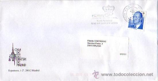 CACERES DESEA FELICIDAD A SAR DON FELIPE Y DÑA. LETIZIA, MADRID 2004. MATASELLOS RODILLO CARTA GMPM (Sellos - Historia Postal - Sello Español - Sobres Primer Día y Matasellos Especiales)