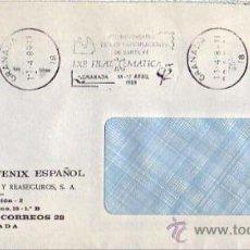 Sellos: COLON CAPITULACIONES DE SANTA FE 497 ANIVERSARIO, GRANADA 1989 RARO MATASELLOS RODILLO EN CARTA GMPM. Lote 8347398