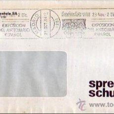 Sellos: FERIARTE EXPOSICION DEL ANTICUARIO ESPAÑOL, MADRID 1984. MATASELLOS RODILLO EN CARTA COMERCIAL. GMPM. Lote 8347405