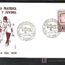 Sellos: 1976-04/09 GIJON (ASTURIAS), MUESTRA FILATELICA DE JOVENES Y NIÑOS, RARO, SOBRE ALFIL, . Lote 11022008