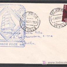 Sellos: 1979-05/11 SEVILLA SUC. PUERTO, SOBRE CON MARCA EN AZUL /GORCH FOCK/ FRANQUEO 2347, . Lote 10656678