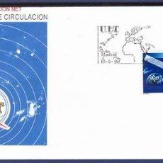 Sellos: SOBRE PRIMER DIA: S.F.C. A. 775 / U. I. T. 1990. Lote 12265882