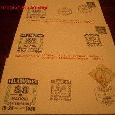 Sellos: 4 SOBRES EXPOSICION FILATELICA MODERNA, MADRID 1998, FILAMODER. Lote 26524470
