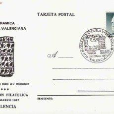 Sellos: TARJETA POSTAL CERÁMICA ESCUELA VALENCIANA: BOTE FARMACIA SIGLO XV MANISES.. Lote 2804628