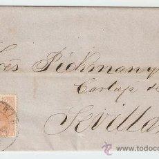 Sellos: CARTA MADRID - SEVILLA 1882. Lote 9912482