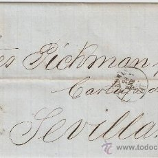 Sellos: CARTA MADRID - SEVILLA 1869. Lote 9912587