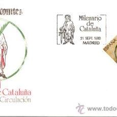 Sellos: ESPAÑA 1988. SOBRE PRIMER DIA. MILENARIO DE CATALUÑA. Lote 9928545