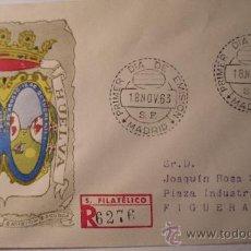 Sellos: S.F.C. A 143 SERIE ESCUDOS ESPAÑA ESCUDO DE HUELVA Nº 1491 ANFIL 1963. Lote 9949212