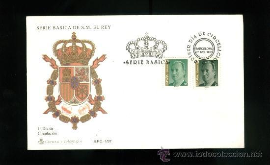 SERIE BASICA DE S.M. EL REY - 1997 (Sellos - Historia Postal - Sello Español - Sobres Primer Día y Matasellos Especiales)