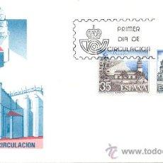 Sellos: ESPAÑA Y PORTUGAL 1986. FARO DE CALELLA (BARCELONA). CATEDRAL DE CIUDAD RODRIGO (SALAMANCA. Lote 11543390