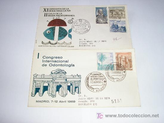 SPD XI CERTAMEN MODA MASCULINA II GALA DE LA MODA MEDITERRANEA - CONGRESO INTERNACIONAL DE ONTOLOGIA (Sellos - Historia Postal - Sello Español - Sobres Primer Día y Matasellos Especiales)