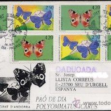 Briefmarken - Primer dia mariposas Correo Frances ANDORRA ( 3 SERIES COMPLETAS) - 26342691