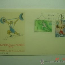 Sellos: 9925 OLIMPIADA MUNICH FDC SPD AÑO 1972 MAS DE ESTE TEMA EN MI TIENDA C&C. Lote 14375796
