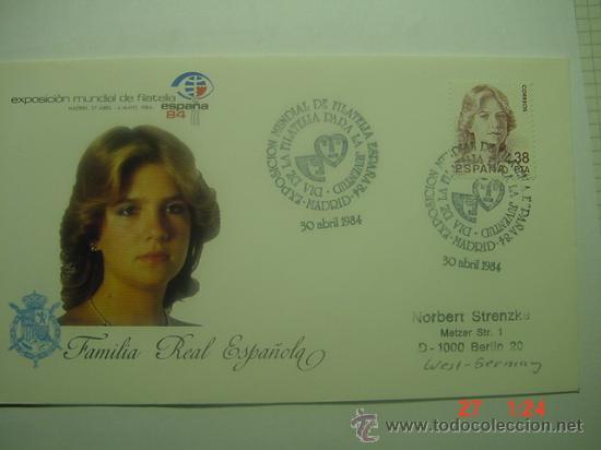 9929 FAMILIA REAL INFANTA FDC SPD AÑO 1984 MAS DE ESTE TEMA EN MI TIENDA C&C (Sellos - Historia Postal - Sello Español - Sobres Primer Día y Matasellos Especiales)