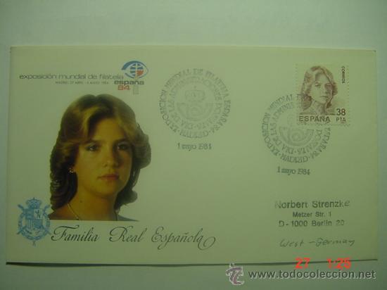 9932 FAMILIA REAL INFANTA FDC SPD AÑO 1984 MAS DE ESTE TEMA EN MI TIENDA C&C (Sellos - Historia Postal - Sello Español - Sobres Primer Día y Matasellos Especiales)