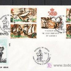 Sellos: ESPAÑA 3079C CARNET PRIMER DIA BADALONA, REGRESO DE INDIAS, V CENTENARIO, RARO. Lote 67169591