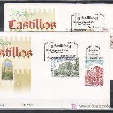 Sellos: ESPAÑA 3785/8 PRIMER DIA, CASTILLOS DE ZUDA TORTOSA, CID JADRAQUE, SAN FERNANDO FIGUERAS, MONTESQUIU. Lote 22252633