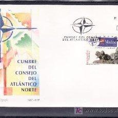 Sellos: ESPAÑA 3496 PRIMER DIA, CUMBRE DEL CONSEJO DEL ATLANTICO NORTE,. Lote 262489320