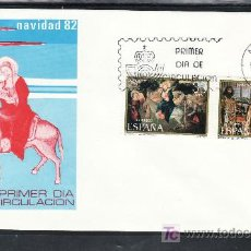 Sellos: ESPAÑA 2681/2 PRIMER DIA, NAVIDAD, REAL COLEGIATA COVARRUBIAS (BURGOS), MUSEO BELLAS ARTES VALENCIA. Lote 14716065