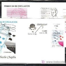 Sellos: ESPAÑA 3013/4 PRIMER DIA, CENTENARIOS, GABRIELA MISTRAL, CHARLIE CHAPLIN -CHARLOT-. Lote 14726874
