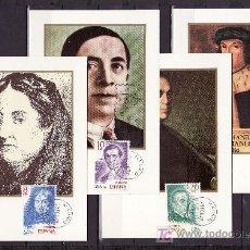 Sellos: ESPAÑA 2512/5 PRIMER DIA TARJETA, JORGE MANRIQUE, FERNAN CABALLERO, FRANCISCO VILLAESPESA, MARAÑON. Lote 18900754