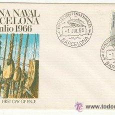 Sellos: SEMANA NAVAL BARCO BUQUE BARCELONA 1966 EXPOSICION TEMAS NAVALES. Lote 25327540