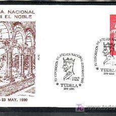 Sellos: 1990 TUDELA 21-23/5 ALFIL, XV EXPOSICION FILATELICA NACINAL, CARLOS III EL NOBLE. Lote 27459570