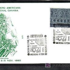 Sellos: 1990 SANTA CRUZ TENERIFE 3-5/11 ALFIL 2º MUESTRA IBEROAMRICANA VI FERIA REGIONAL CANARIAS ARTESANIA. Lote 15102943
