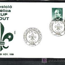 Sellos: 1988 VALENCIA 29/11 ALFIL, DEPORTE, EXPOSICION FILATELICA GRUPO SCOUTS. Lote 179116970
