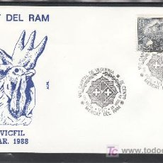 Sellos: 1988 VIC 26/3 ALFIL, VIII VICFIL, VIC CAPITAL DE VEGUERIA, MERCAT DEL RAM,. Lote 262489210