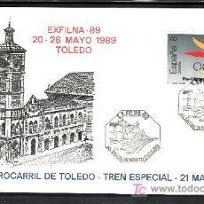 Sellos: 1989 MADRID 21/5 EUROSOFI, EXFILNA 89, FF.CC., AMB MADRID TOLEDO. Lote 16611643