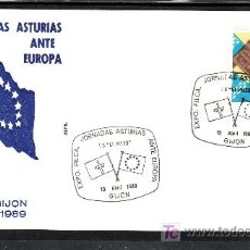 Sellos: 1989 GIJON 19/4 ALFIL, EXP. FIL. JORNADAS ASTURIAS ANTE EUROPA, I.B. -EL PILES-. Lote 52484545