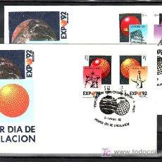 Sellos: 1989 SEVILLA 9/2 PRIMER DIA 2990/3 SFC, EXPO 92, EXP. UNIVERSAL SEVILLA, EXP. UNIVERSALES. Lote 178733391