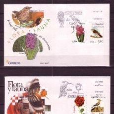 Sellos: ESPAÑA SPD 4300/07 - AÑO 2007 - FLORA Y FAUNA - AVES - FLORES. Lote 21789515
