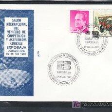 Sellos: 1987 ZARAGOZA 22-26/7 ALFIL, AUTOMOVIL, SALON INTER. VEHICULO DE COMPETICION Y ACTIVIDADES CONEXAS. Lote 113276072