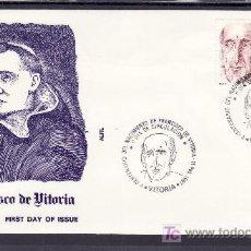 Sellos: 1987 VITORIA 11/2 PRIMER DIA 2883 ALFIL, V CENTENARIO DEL NACIMIENTO DE FRANCISCO DE VITORIA. Lote 262489335