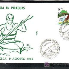 Sellos: 1986 RIBADESELLA 9/8 ALFIL, DEPORTE, DESCENSO INTERNACIONAL DEL SELLA EN PIRAGUAS. Lote 167579196