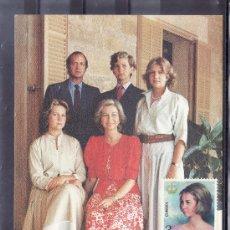 Sellos: 1985 MADRID 22/11 TARJETA, DIEZ AÑOS DE REINADO JUAN CARLOS I REY DE ESPAÑA . Lote 22054853