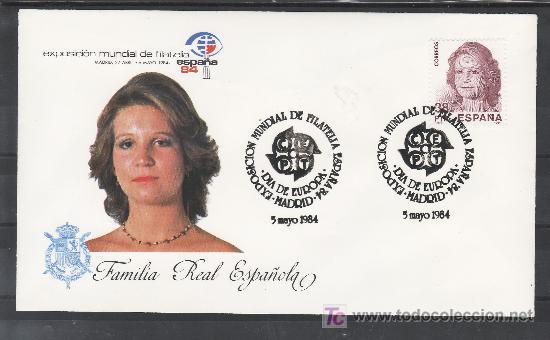 1984 MADRID 5/5 OFICIAL, ESPAÑA 84, EXP. MUNDIAL DE FILATELIA, DIA DE EUROPA (Sellos - Historia Postal - Sello Español - Sobres Primer Día y Matasellos Especiales)