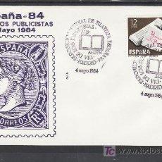 Sellos: 1984 MADRID 4/5 ALFIL, ESPAÑA 84, EXP. MUNDIAL DE FILATELIA, DIA DE LOS PUBLICISTAS AIJP -AHPFN. Lote 22314411