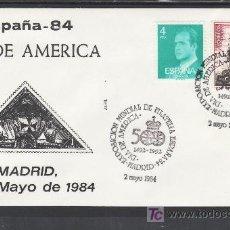 Sellos: 1984 MADRID 2/5 ALFIL, ESPAÑA 84, EXP. MUNDIAL DE FILATELIA, DIA DE AMERICA. Lote 24695962