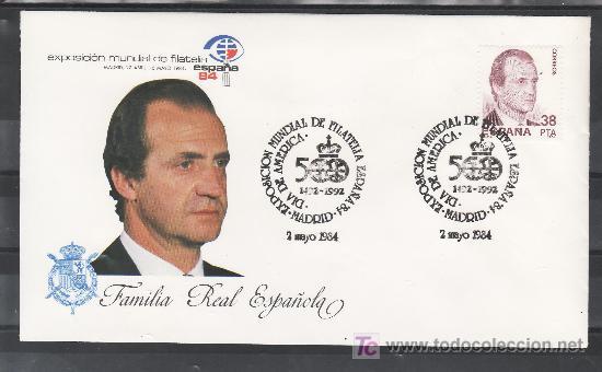 1984 MADRID 2/5 OFICIAL, ESPAÑA 84, EXP. MUNDIAL DE FILATELIA, DIA DE AMERICA (Sellos - Historia Postal - Sello Español - Sobres Primer Día y Matasellos Especiales)