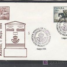 Sellos: 1984 MADRID 1/5 ALFIL, ESPAÑA 84, EXP. MUNDIAL DE FILATELIA, DIA DE LAS ADMINISTRACIONES POSTALES, . Lote 23232276