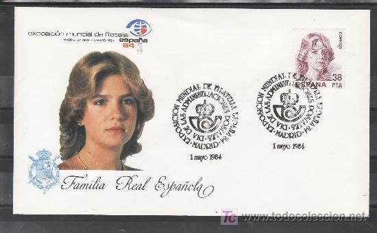 1984 MADRID 1/5 OFICIAL, ESPAÑA 84, EXP. MUNDIAL DE FILATELIA, DIA DE LAS ADMINISTRACIONES POSTALES (Sellos - Historia Postal - Sello Español - Sobres Primer Día y Matasellos Especiales)
