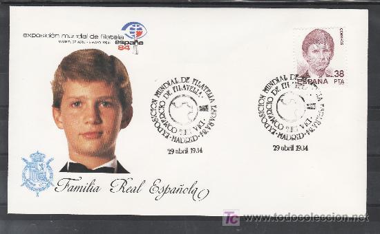 1984 MADRID 29/4 OFICIAL, ESPAÑA 84, EXP. MUNDIAL DE FILATELIA, DIA DEL COMERCIO DE FILATELIA (Sellos - Historia Postal - Sello Español - Sobres Primer Día y Matasellos Especiales)